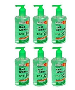 Hand Sanitizer for HOSPITAL, DOCTOR OFFICE, SCHOOL, OFFICE, GYMS, AND MORE, Hand Sanitizer with Aloe, 8 oz. Bottles Pack of 6