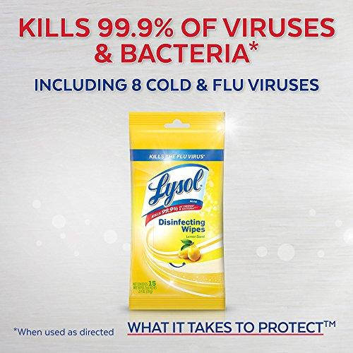 Lysol Disinfecting Wipes, Lemon & Lime Blossom, 15ct: Health & Personal Care