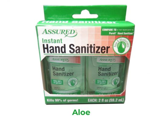 Instant Hand Sanitizer with Vitamin E and Moisturizers! 2 2oz Bottles