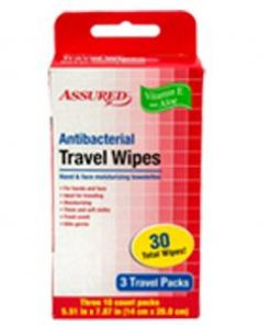 Antibacterial Resealable Wet Wipes, Small Travel 1 Pack