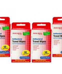 Antibacterial Resealable Wet Wipes, Small Travel 6 Packs
