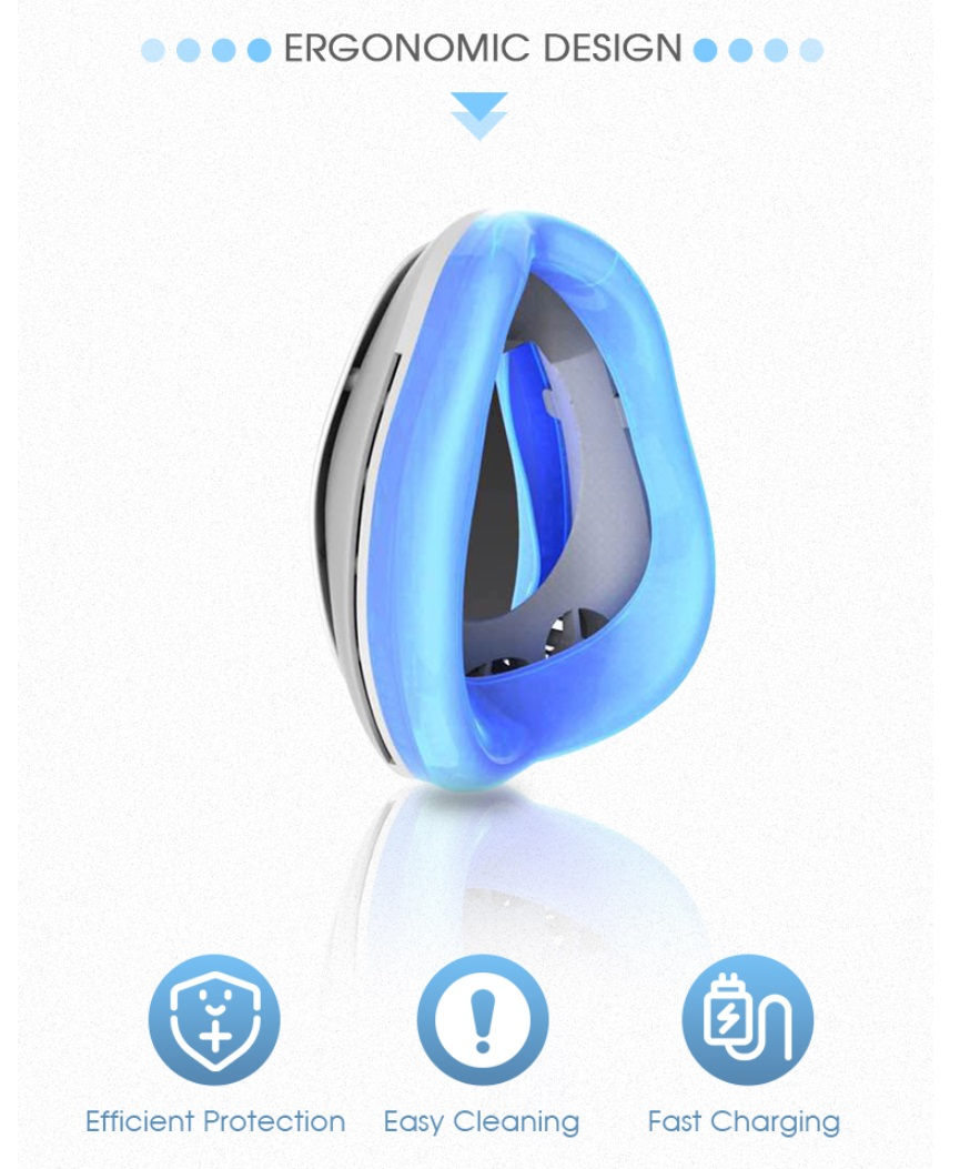 PM 2.5 Anti Pollution Electric Face Mask