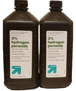 Hydrogen Peroxide 3% Topical Solution USP First Aid Antiseptic 2 PK of 32 FL OZ.