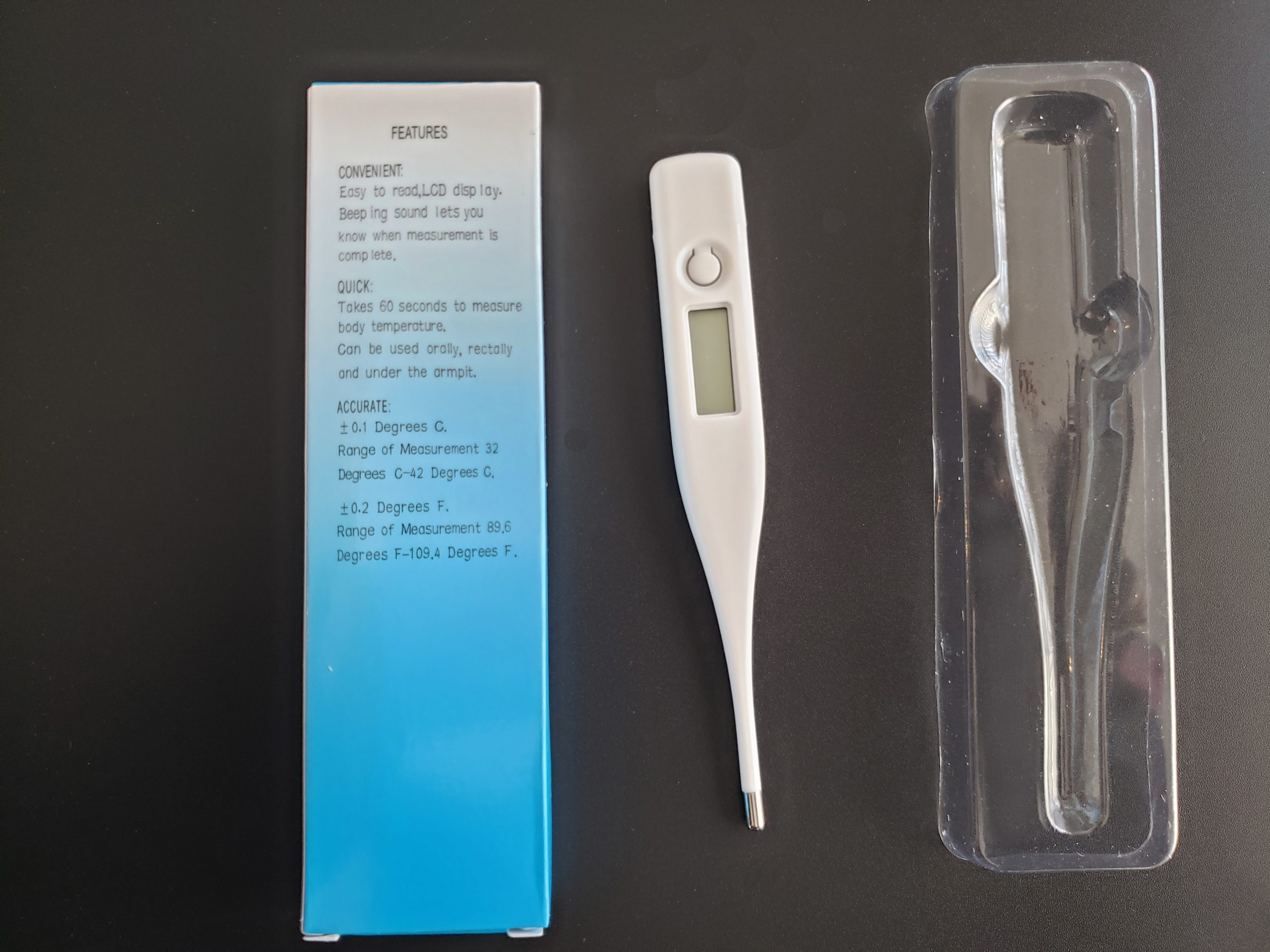 1 Digital Oral Thermometer For Baby Kids Adults Health Medical Fever FDA Compliant!