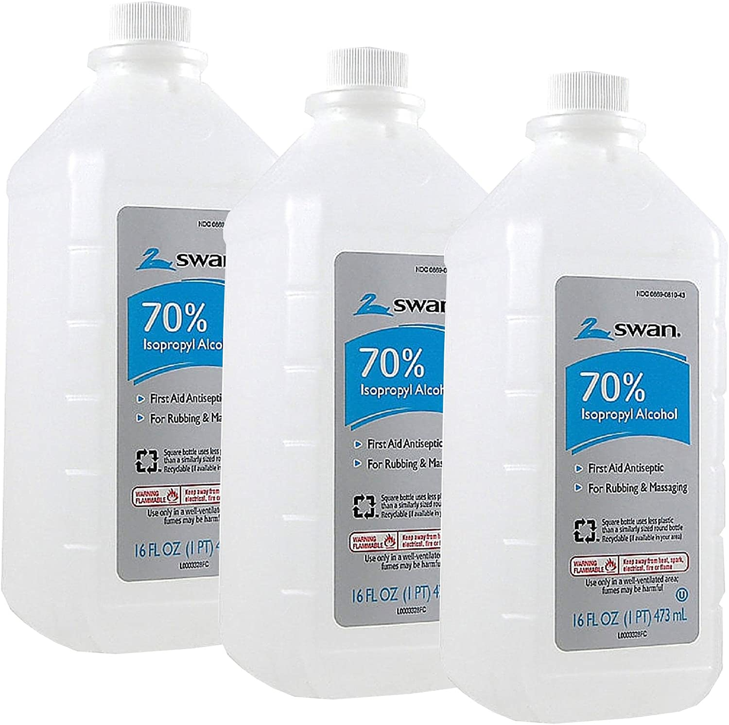 Isoprophyl Alcohol, 70% 16 oz (Pack of 6)