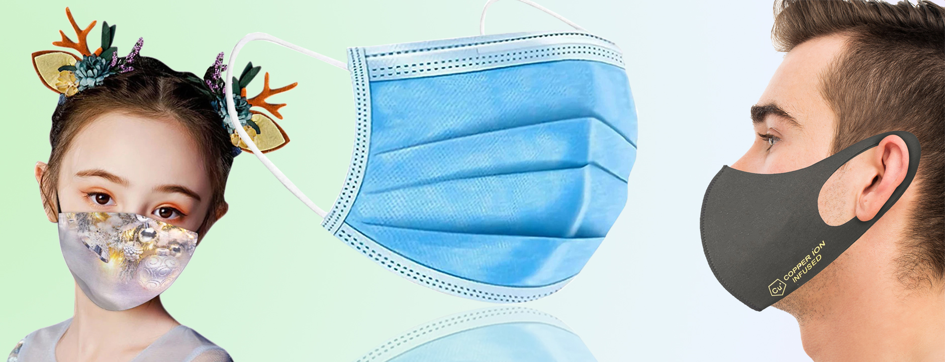 Disposable 3-Layer Protective, Soft Skin Layer Face Mask